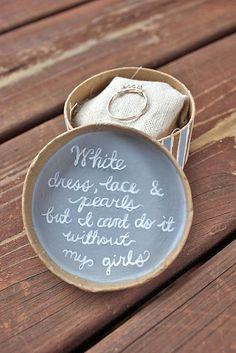 15 Super Fabulous Bridesmaid Proposal Ideas ❤️ Here are some gorgeous bridesmaid proposal ideas. See more: http://www.weddingforward.com/bridesmaid-proposal-ideas/ #wedding #bridesmaid #proposal