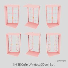 Cafe Window, Open Window, Sims Building, Door Sets, Sims 4 Cc Finds, Sims 4 Mods, Windows And Doors, Candle Holders, Porta Velas
