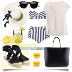 How To Wear Navy Look with Espadrilles Sandals Outfit Idea 2017 - Fashion Trends Ready To Wear For Plus Size, Curvy Women Over 20, 30, 40, 50