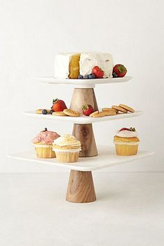 Gorgeous Mixed Marbled Cake Stand from Anthropologie