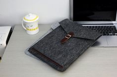 Felt Laptop Sleeve 15.6 , 15 inch Laptop Case , Laptop Case 15.6 , 15.6 Laptop Sleeve , 15.6 inch Laptop Bag #205