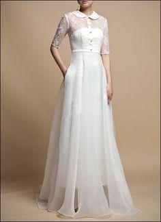 Spitze Brautkleid mit Ärmeln WD660  Bridal wear  Pinterest