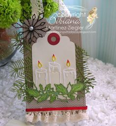 Memory Box dies- Glowing candles; precious snowflakes, Pinecone Corner