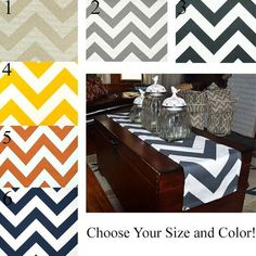 Table Runner - Choose your Size and Color! Great for Weddings, Baby and Bridal Showers, Home Decor and Holidays! Boys Curtains, Nursery Curtains, Red Curtains, Panel Curtains, Farmhouse Curtains, Kitchen Curtains, Chevron Home Decor, Bridal Showers, Baby Showers