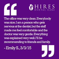 We have awesome patients!