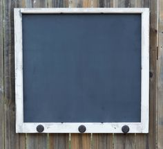 Repurposed Window Frame Chalkboard