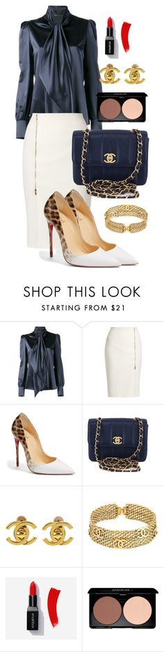"""Lady."" by norathelemon ❤ liked on Polyvore featuring Yves Saint Laurent, MaxMara, Christian Louboutin and Chanel"