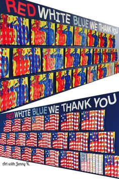 Art project for Veterans Day or Memorial Day. Unique art project for these patriotic holidays that your students will love creating!