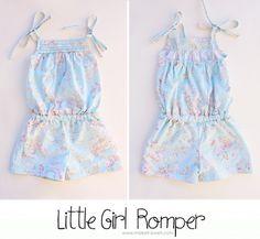 Sew Pretty Sew Free: Little Girls Romper
