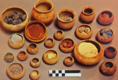 Roman pigments found at a house in Pompeii by Archaeologist Sophie Hay. https://pompei79.wordpress.com/