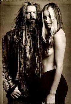 Rob Zombie (with wife, Sheri Moon Zombie).