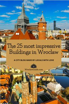 From a worldwide unique and well known water tower over modernist and gothic architecture, Wroclaw has endless diverse buildings. We selected the 25 most beautiful and impressive buildings for you! Do you already know them all? Contemporary Museum, High Building, Poland Travel, Concrete Building, Water Tower, Gothic Architecture, Town Hall, 14th Century, Beautiful Buildings