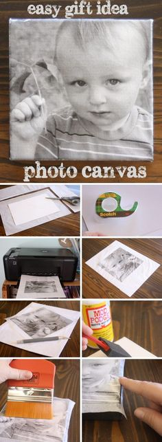 Diy Photo Transfer to Canvas . 26 Inspirational Diy Photo Transfer to Canvas Ideas . 12 Easy Image Transfer Methods for Diy Projects Mod Podge Photo Transfer, Foto Transfer, Transfer Printing, Heat Transfer, Photo Projects, Diy Projects To Try, Craft Projects, Photo Craft, Diy Photo