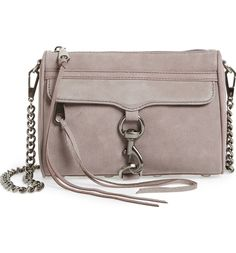 Lush nubuck and bold signature hardware add refined glamour to the fan-favorite Mini MAC bag from Rebecca Minkoff.
