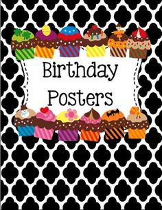 I whipped up these cute little birthday mini-posters that I am going to laminate and write my student birthdays on with a Vis-a-vis marker.   If you do download this freebie, please remember to leave me some feedback!