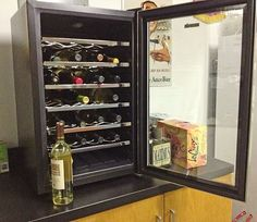 Man cave.... or wine cave? You decide! The NewAir AW-281E wine cooler