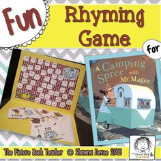 Match the Rhyme Game inspired by A Camping Spree w/ Mr. Magee by Chris Van Dusen.