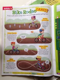 Bike rodeos help students learn spacial awareness and better maintenance of balance. Teachers can use these activities in class by using simple cones or parking lot lines. Bicycle Birthday Parties, Bicycle Party, Kids Bicycle, Wolf Scouts, Girl Scouts, Cub Scouts, Rodeo Games, Scout Bike, Bmx