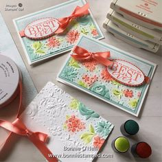 Note Card featuring the Country Floral Embossing Folder Card Making Tips, Making Ideas, Embossed Cards, Embossing Folder, Embossing Stamp, Copics, Stamping Up, Creative Cards, Flower Cards