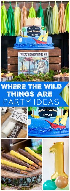 """a great idea to have a first birthday """"Where the Wild Things Are"""" party! See more party ideas at ! Wild One Birthday Party, Baby Boy First Birthday, 1st Boy Birthday, First Birthday Parties, Birthday Ideas, Theme Parties, 1st Birthdays, Party Ideas, Party Party"""