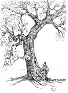 different pen and ink techniques photo inspiration tree drawings