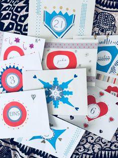 Adventskalender Verpackung selbstgebastelt, individuell gestaltet und befüllbar <3