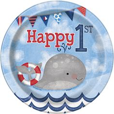 About This Plates per PackageMeasures 7 InchesMade of Sturdy PaperOne Package of 8 Nautical Birthday 7 Inch Cake/Dessert Plates. Perfect to use when serving appetizers or desserts. Complete your nautical birthday! First Birthday Party Supplies, Birthday Party Celebration, Boy First Birthday, Boy Birthday Parties, Birthday Ideas, Kid Parties, Birthday Stuff, Theme Parties, Birthday Plate