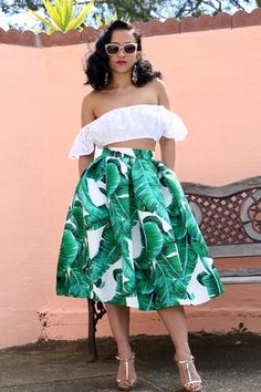 The Palms Spring Midi Skirt Havana Nights Dress, Havana Nights Party, Tropical Outfit, Tropical Fashion, Night Outfits, Summer Outfits, Fashion Outfits, Style Fashion, Womens Fashion
