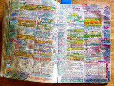My Dad's Bible. The physical evidence of a lifetime of faithfulness, study and living what you believe in. - Imgur