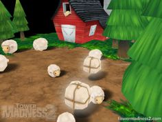 Pick up wool in TowerMadness 2!
