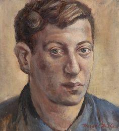 Self-portrait Oil on canvas x 1950 Oil On Canvas, Abstract Art, Portrait, Headshot Photography, Portrait Paintings, Drawings, Portraits