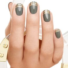 dream weaver by essie - Weave tips of delicate gold over sage pewter for a nail look that's totally dreamy.