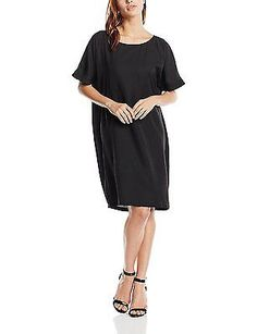 10 (Manufacturer Size:40), Black, Moves Women's Berna Short Sleeve Dress NEW