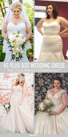 Beautiful plus size wedding dress ideas