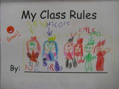 class rules book for the beginning of the school year