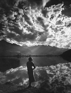 """""""Abend am Zeller See"""". 1938. by Ernst Baumann"""