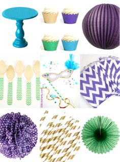 Paint My Party: Purple, Green, Teal and Gold Mardi Gras Party Inspiration Mardi Gras Activities, Teal And Gold, Purple, Mardi Gras Decorations, Party Time, Party Party, Bird Party, Mardi Gras Party, Birthday Parties