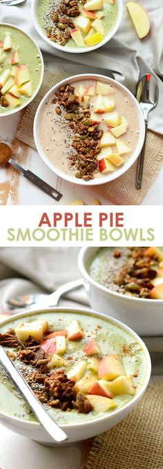 Love apple pie? Now you can eat it for breakfast and not feel an ounce of guilt! This apple pie smoothie is made with real food and classic apple pie flavor! #breakfast #smoothie