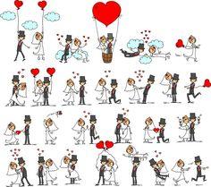 рисованные свадебные картинки - Wegetarian