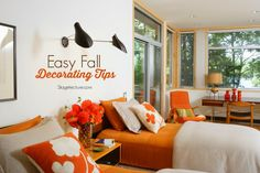 Easy fall decorating bedroom ideas to try this season. #fall #decor #design