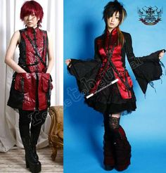 GazettE Gackt Cos Visual Kei Gator Damask Corset Vest L #vestjacket