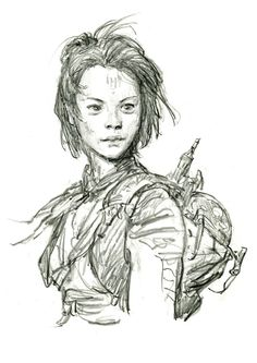 "Kira (Rey) (""Guided Imagery"" Concept Phase) Iain McCaig Star Wars The Force Awakens concept art."