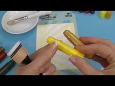 Tim Holtz Stencils & Gelatos Background - YouTube