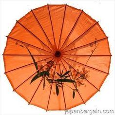 Amazon.com: Japanese Chinese Umbrella Parasol 32in L-Orange 156-8: Home & Kitchen