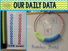 hula hoop and pool noodle pieces to show number bond