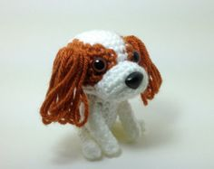 Cavalier King Charles Spaniel Blenheim Stuffed Animal Handmade Amigurumi Dog Crochet Puppy Doggie Doll / Made to Order