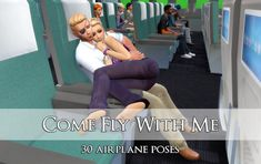 COME FLY WITH ME 30 poses for an airplane flight Soooo and I collaborated put a bunch of poses together. Sims 4 Couple Poses, Couple Posing, Come Fly With Me, Sims 4 Mods, Airplane, Wedding Photos, Couples, Composition, Sweet