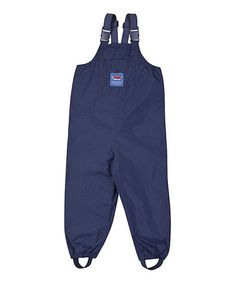 Look what I found on #zulily! Navy Waterproof Overalls - Infant, Toddler & Boys by JoJo Maman Bébé #zulilyfinds