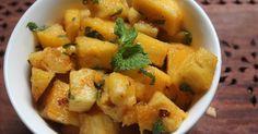 : Pineapple Chaat  - Pineapple Salad