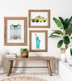 Excited to share the latest addition to my #etsy shop: Plaza New York Printable, New York Instant Download, Modern Minimalist Art Print, Architecture Wall Decor, Girly Wall Art, Green Pop Art